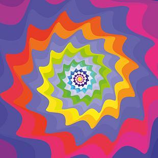 Fraktal Design farbig