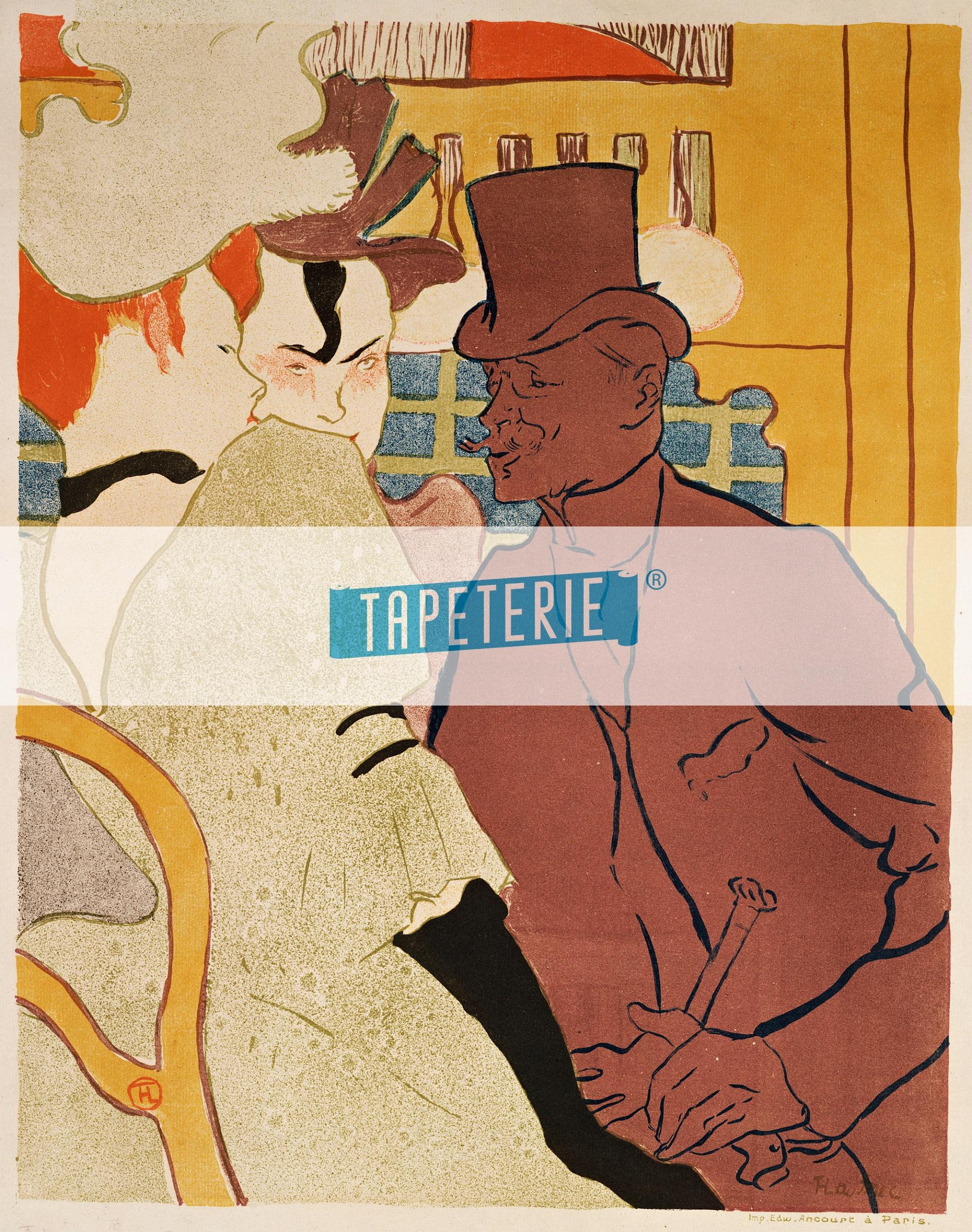 Kunst tapete der engl nder im moulin rouge tapeterie for Kunst tapete