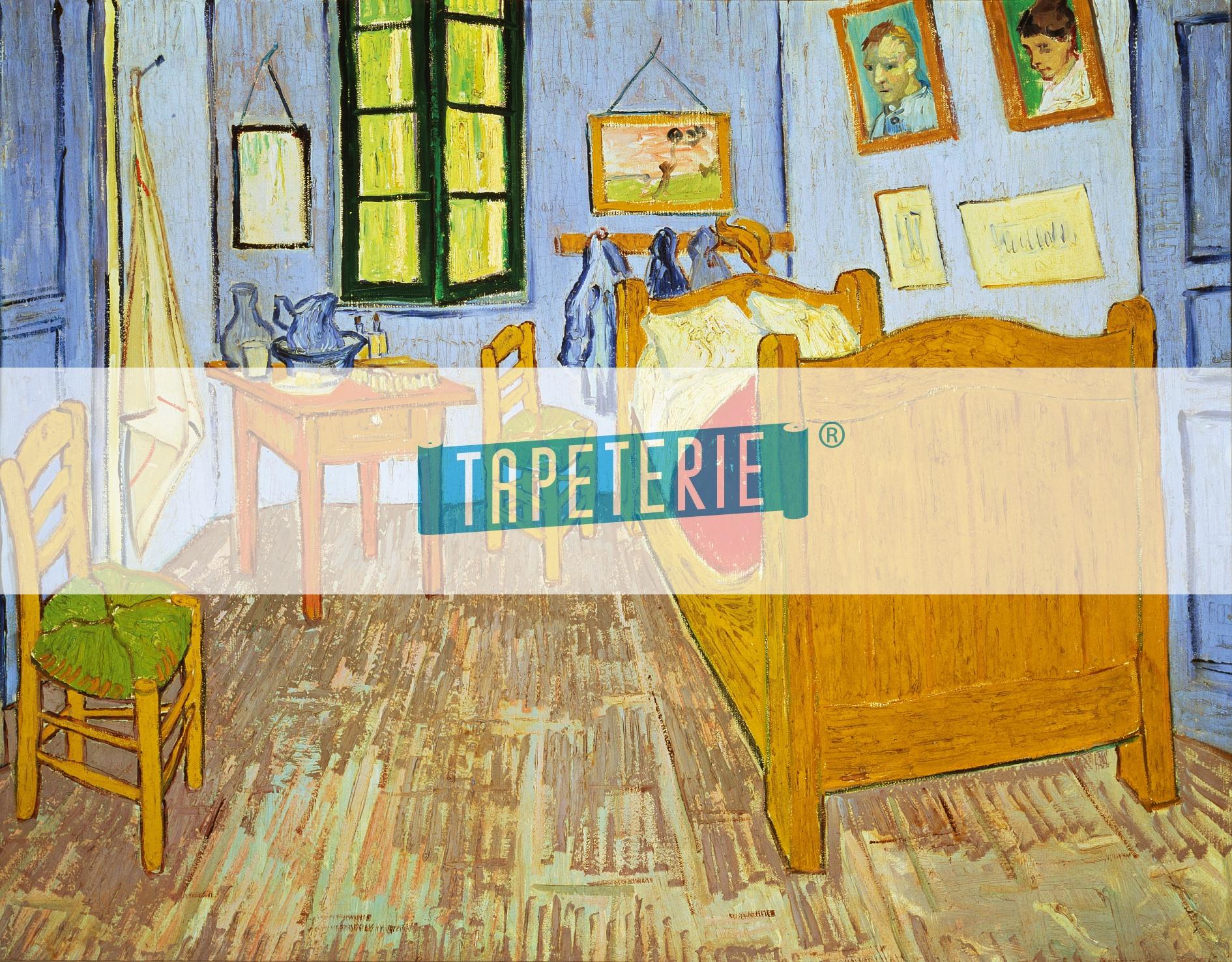 Schlafzimmer In Arles : Schlafzimmer In Arles  Kunst Tapete Van Goghs Schlafzimmer in Arles