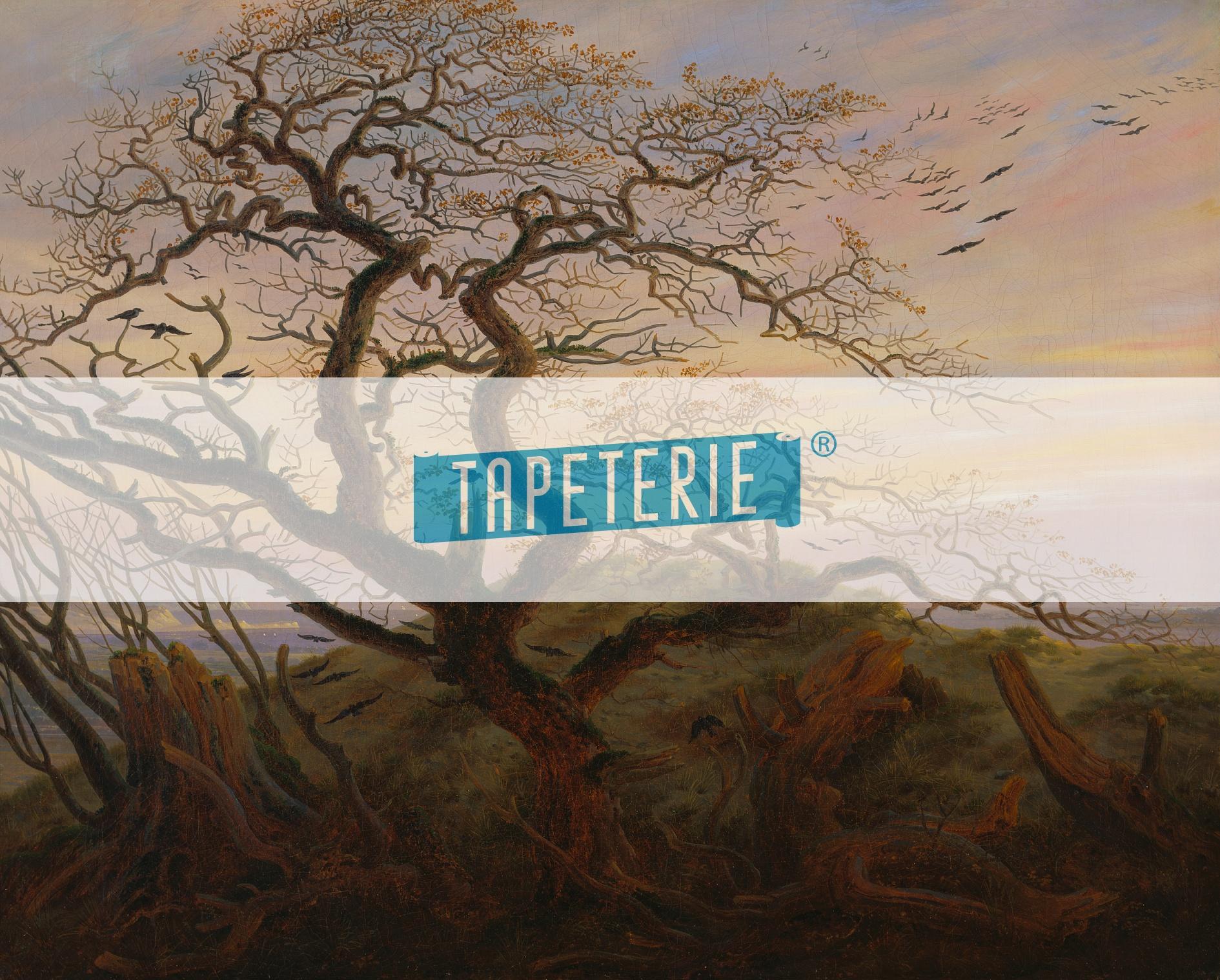 Kunst tapete rabenbaum caspar david friedrich tapeterie for Kunst tapete