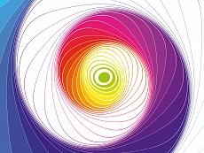Design-Serie Farb-Spirale 1