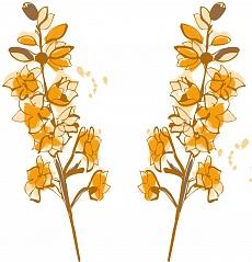 Natur im Raum, Farbvariante: braun, orange