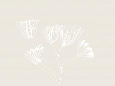 Blüten, Farbvariante: beige