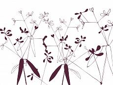 Floral, Farbvariante: darkviolett