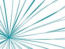 Strahlen, Farbvariante: blaugrün