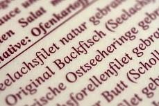 Designer Tapete mit Schrift – Backfisch