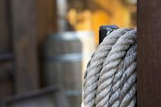 Aufgehängtes Seil