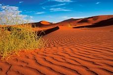 Sandspuren in der Wüste