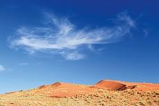 Sanddünen in der Wüste Namibias