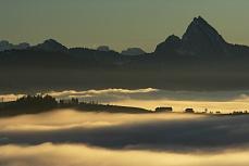 Nebelmeer in den Bergen