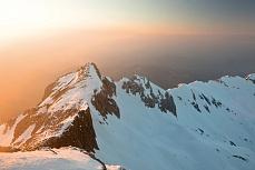 Fototapete mit Bergmotiv - Abendglühen im Alpstein