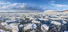 Fjord mit Eis