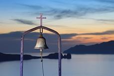 Abendstimmung mit Glocke