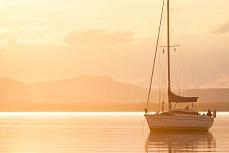 Gemütlicher Abend auf dem Wasser