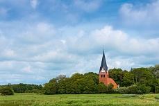 Kirche in Aventoft in Schleswig-Holstein