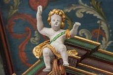 Engel in der Kirchwarf von Langeness und Oland