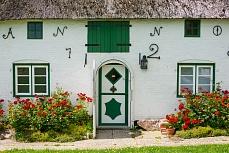 Hauseingang auf der Ketelswarf in Schleswig-Holstein