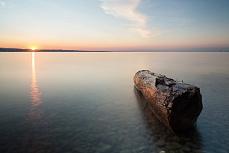 Holzmorgen Sonnenaufgang Bodensee