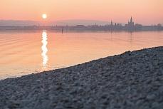 Konstanzer Bucht Sonnenuntergang