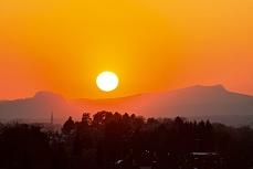 Sonnenuntergang Hegau und radolfzell