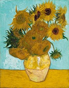 Vase mit Sonnenblumen. 1888