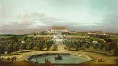 Das kaiserliche Lustschloß Schloßhof, Gartenseite.