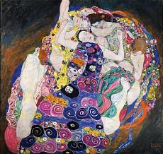 Kunst Tapete aus dem Jugendstil - Gustav Klimt, Die Jungfrau