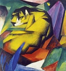 Kunst Tapete aus dem Expressionismus - Franz Marc, Der Tiger