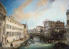 Kunst Tapete aus der Romantik - Giovanni Antonio Canal, Il Rio dei Mendicanti.