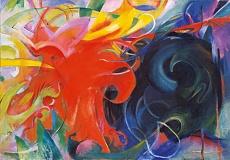 Kunst Tapete Abstrakte Kunst Kämpfende Formen Franz Marc 1914