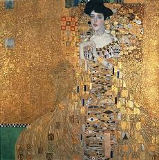 Kunst Tapete aus dem Jugendstil - Gustav Klimt, Bildnis der Adele Bloch-Bauer I.