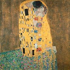 Kunst Tapete aus dem Jugendstil - Gustav Klimt, Der Kuß