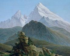 Kunst Tapete aus der Romantik - Caspar David Friedrich, Der Watzmann