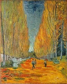 Die Alyscamps, Allee in Arles. 1888