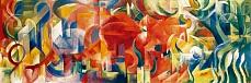 Kunst Tapete aus dem Expressionismus - Franz Marc, Spielende Formen