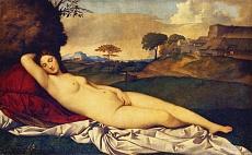 Kunst Tapete aus der Renaissance - Giorgio da Castelfranco, Schlummernde Venus