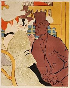 Kunst Tapete aus dem Jugendstil - Henri de Toulouse-Lautrec, Der Engländer im Moulin-Rouge