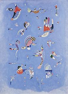 Kunsttapete Himmelsblau von Wassily Kandinsky (1940)