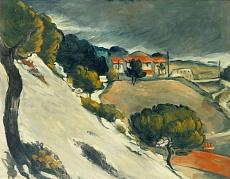 Kunsttapete Erster Schnee bei l'Estaque von Paul Cézanne (1870)