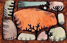 Kunst Tapete aus dem Expressionismus - Paul Klee, Der Tag im Wald