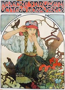 Plakat 'Pévecké sdruzeni ucitelu moravskych' (Gesangsverein mährischer Lehrer). 1911