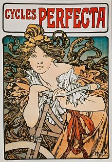Werbeplakat für 'Cycles Perfecta'. 1902