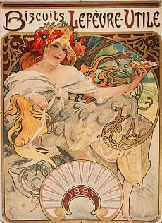 Kalenderillustration für Lefèvre-Utile. 1896-97