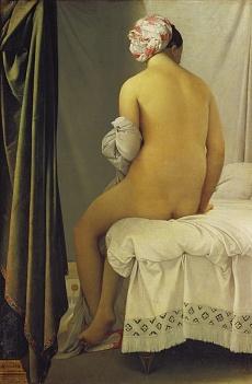 Kunst Tapete aus dem Klassizismus - Jean-Auguste Dominique Ingres, Die Badende (Baigneuse de Valpinçon)