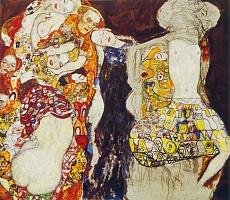 Kunst Tapete aus dem Jugendstil - Gustav Klimt, Die Braut (unvollendet)