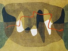 Kunst Tapete aus dem Expressionismus - Paul Klee, Schlangenwege