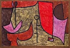 Kunst Tapete aus dem Expressionismus - Paul Klee, Stilleben am Schalttag