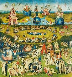 Der Garten der Lüste. Mitteltafel des Triptychons