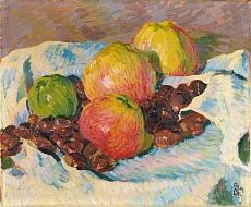Stilleben mit Äpfeln und Kastanien. 1908