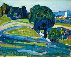 Landschaft mit dunklem Baum. 1908